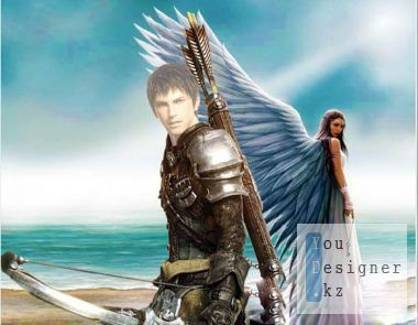 The male template for photoshop - Guardian Angel