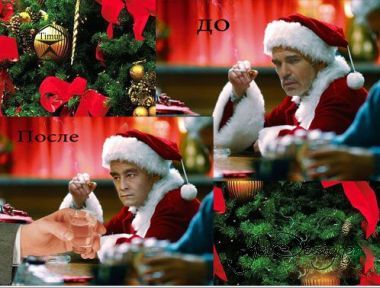 The male template for photoshop - Bad Santa