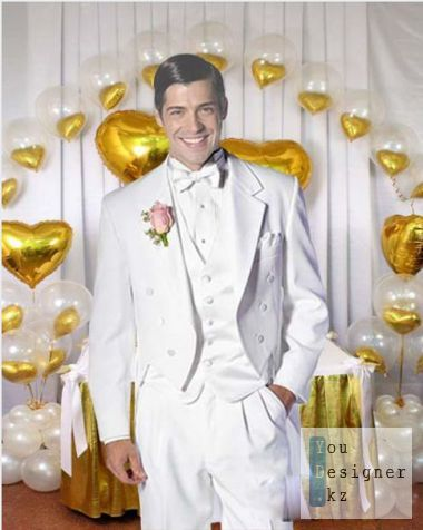 The male template for photoshop - Wedding tuxedo