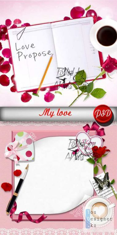 Template for photoshop - My love