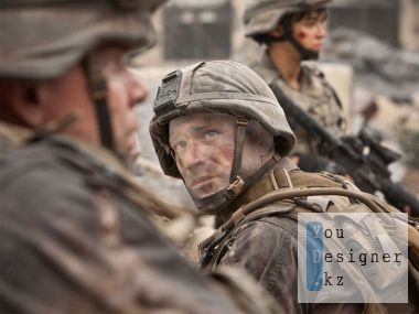 Template for photomontage - soldiers