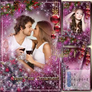 Праздничная рамка - Новогодний орнамент / Festive frame - Christmas ornament