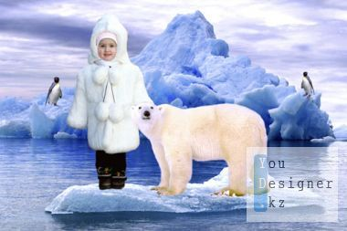 Kid template for Photoshop - Northern expedition