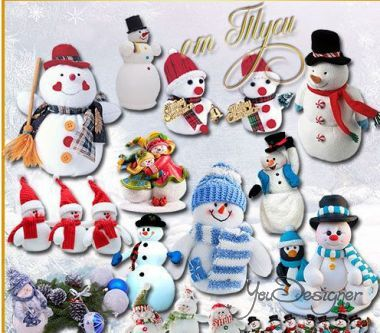 New year clipart - Meet all the snowman