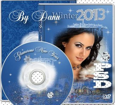 Cover-frame and задувка to disk - Glamorous New year