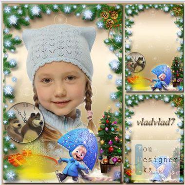 Новогодняя рамка - Маша Снегурочка / Christmas frame - snow Maiden Masha