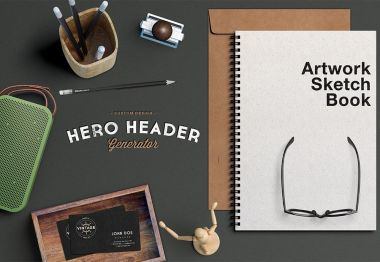 Hero Image with Spiral Book Mockup