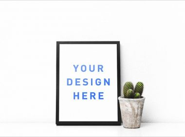 Picture Frame (and Cactus) Mockup