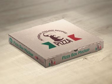 Set of Pizza Box Mockups