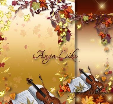 Autumn photo-frame - Gentle melody of fall