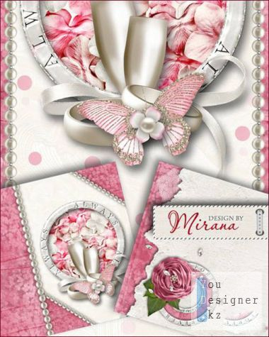 Invitation to wedding - Pink tenderness