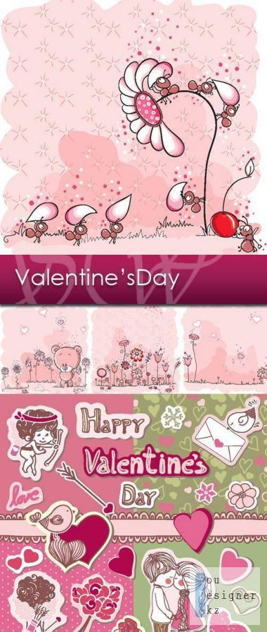 Vector background - Valentine's Day