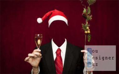 Шаблон для фотомонтажа - тост на Новый Год / Template for photomontage - toast to New Year