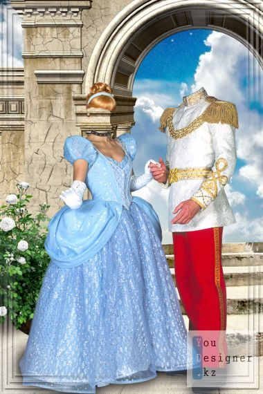 Template for photomontage - Princess and prince