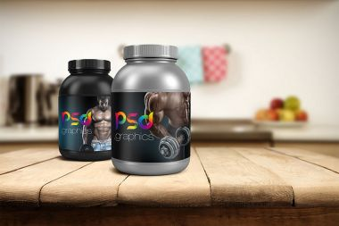 Protein Jar Packaging Mockup