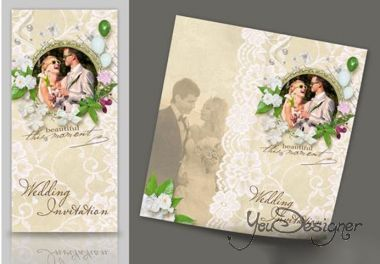 PSD Wedding invitation - This moment