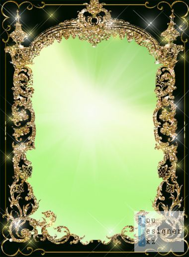 Frame for photo - In glittering golden arch