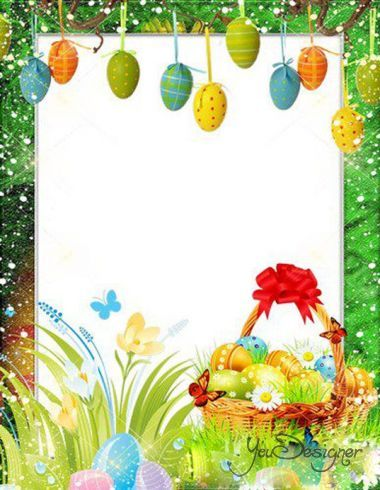The frame for the photo - Easter