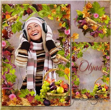 Frame for photoshop - Charming autumn