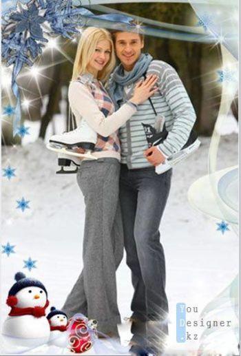 Рамка для фотошоп - Снежной вуалью / Frame for photoshop - Snowy veil