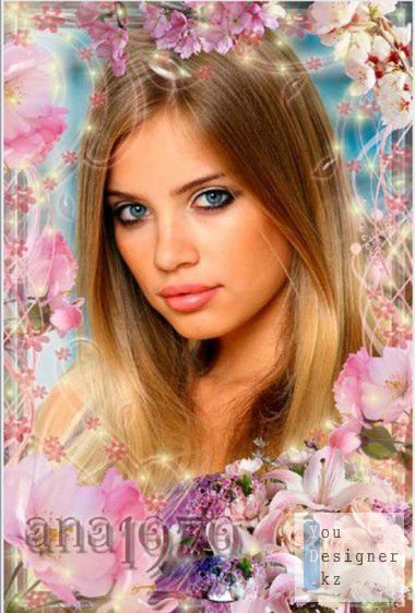 Frame for photoshop - Tenderness of spring