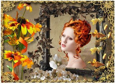 Frame for photoshop - Autumn bouquet