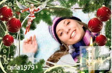 Рамка для фотошопа - Пусть будет щедрым новый год / Frame for photoshop - Let's be the new year be generous