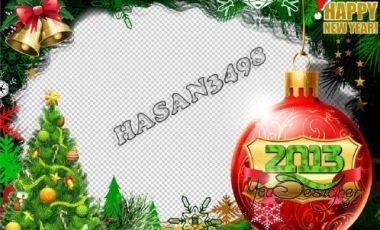 Рамка Счастливый новый год 2013 года