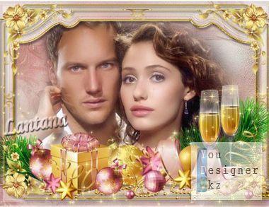 Рамка - Желаю, чтобы в эту ночь был бал с шампанским и свечами / Frame - I Wish that this night was the ball with champagne and candles