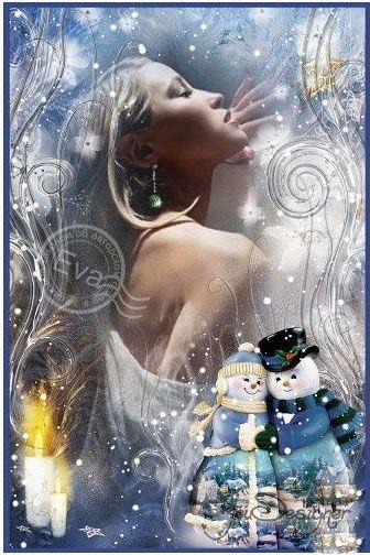 Frame for photoshop - Frosty patterns on glass