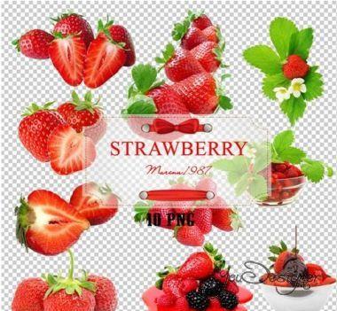 Raster clipart - Sweet strawberries