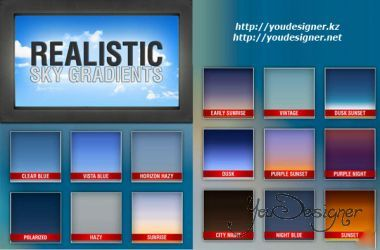 Realistic Sky Photoshop Gradients