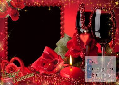 Photo frame for Valentine's Day - a Romantic evening