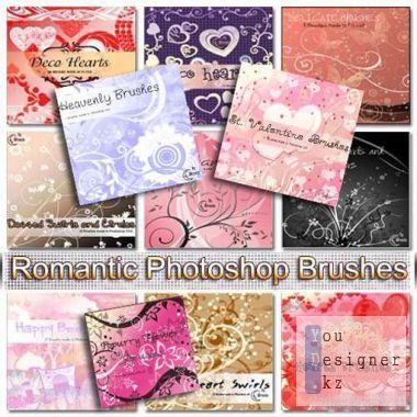 Romantic brushes for photoshop