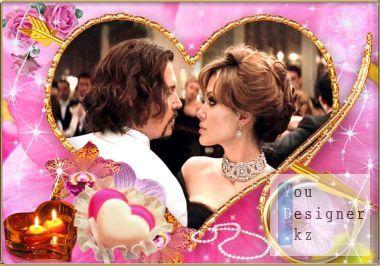 Romantic frame - Heart of Gold