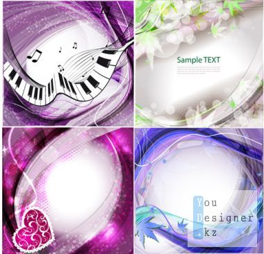 Abstract romantic backgrounds