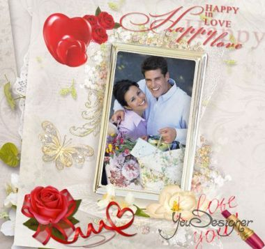 Romantic photo frame - the Joy of love