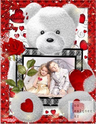 Romantic photo frame - Declaration at St.Valentine's Day