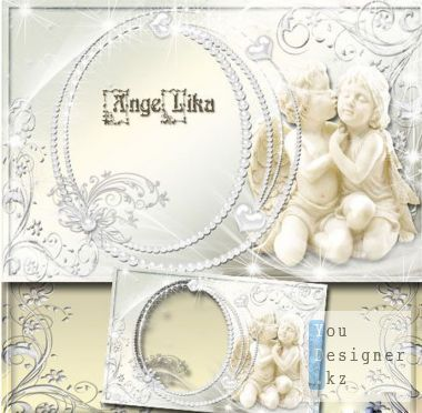 Romantic photo frame - Lovers angels
