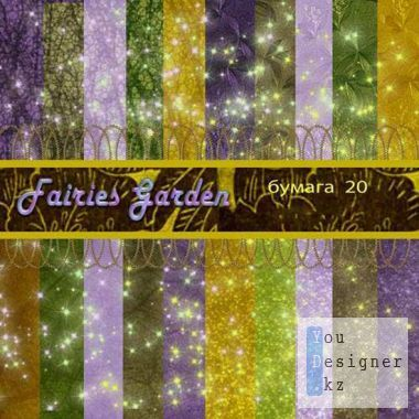 Multi - colored texture - garden fairies