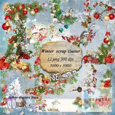 Scrap kit -  Winter cluster