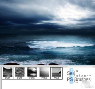 Кисти - моря и океанских пейзажей / Brush - sea and ocean scenery