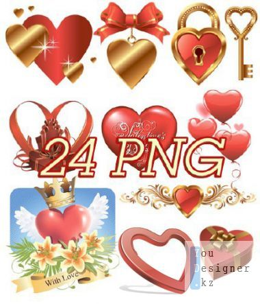 Vector clipart with hearts