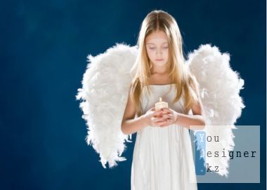The template for the photo of the Girl angel