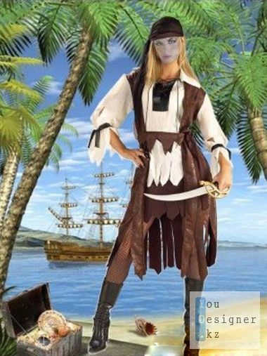Template for the photomontage - Pirate