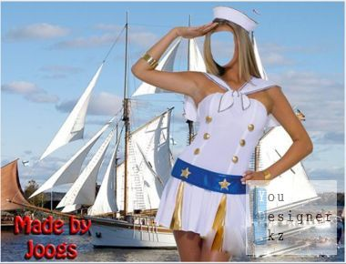 Template for the photomontage - Raise the sails.