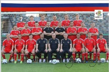 Template for photoshop - You're in the combined team of Russia on football