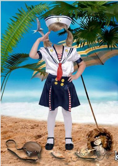 Template for photoshop - Little sailor