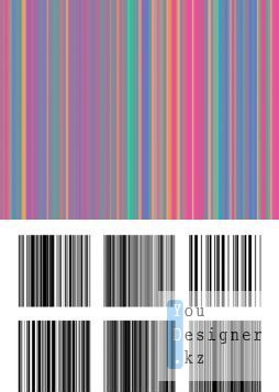 Barcode Brushes Set for Photoshop