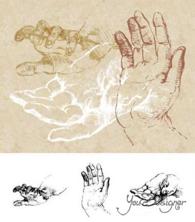 Sketches of Hands Brushes Set